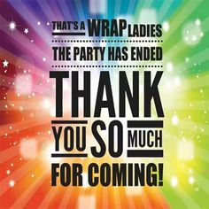 Party over~ Nice, I liked this and had to share. If interested in having a party or making an order, feel free to go to www.carolcross.norwex.biz