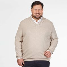 Pull col châle maille fine Grande taille homme - Kiabi - 20,00€