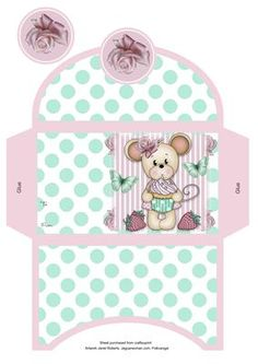 Cupcake Maisy Money Wallet on Craftsuprint designed by Janet Roberts - This cute money wallet goes with my Cupcake Maisy mini kit ..... see the link below - Now available for download!