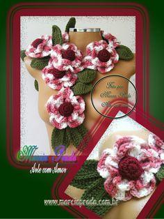 Cachecol Azaleia  http://www.facebook.com/#!/MarciaPradoArteComAmor