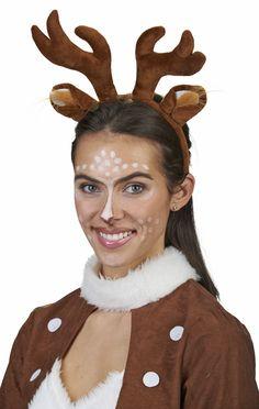 byou Rentier Geweih,Geweihe Stirnband 2 st/ücke Niedlich Rentier Haarreif mit Glocken und Ohren f/ür Erwachsene Kinder zum Halloween Weihnachten Ostern Party Dekoration