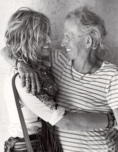 Keith Richards & Patti Hansen.