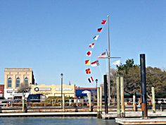 Front Street in Beaufort, North Carolina as seen from the waterfront. (Photo by Betsy Cartier) North Carolina Coast, Tales Series, Travel Magazines, Beach Camping, Under Construction, Writing Inspiration, Small Towns, Cn Tower, Cartier