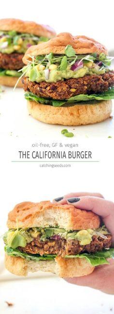 California Burger - A Masterful Veggie Burger Recipe that Taste Like a Million Bucks