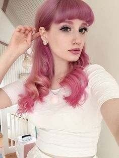 "I want this hair color. (""rose pink"" from directions mixed with a lot of conditioner)"