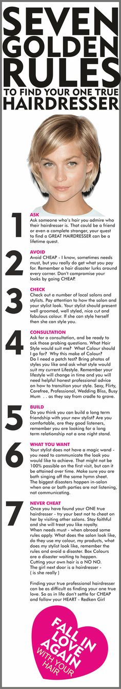 How to find your one true hairdresser the 7 Golden Rules. - Redken Girl