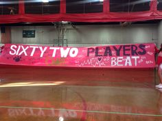 Football run through banner sign - we made this for out game yesterday it came out SO cute! Panther pride