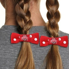 Ohio State Buckeyes Youth Girls Bow Pigtail Holder - Scarlet - cute for my future babies :)