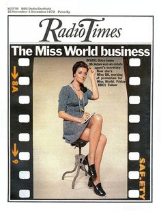 Radio Times Cover Miss World Magazine Covers, Radio Times Magazine, Drinks Of The World, Vintage Magazines, Vintage Photos, 1970s Childhood, Tv Times, Miss World