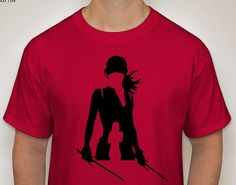 Elektra from Daredevil Netflix Series 2 Silhouette T-Shirt by DJsDecals on Etsy