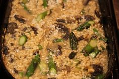 Meatless Monday Asparagus Morel Risotto | Meatless Monday