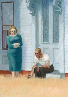 "Lady looks blue... ""Cape Cod Evening"" (detail), 1939, Edward Hopper."