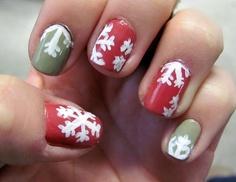 Pastel Snowflake #Nails #Manicure