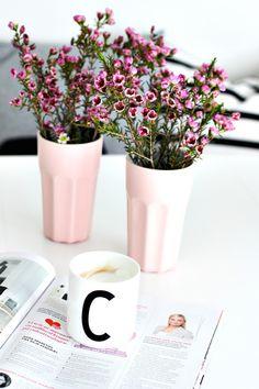 <3 Ikeabecher als Vase