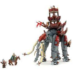 Custom LEGO Lord of the Rings Oliphant Instructions Lego Le Hobbit, Legos, Lego Universe, Lego Knights, Step On A Lego, Lego Jurassic World, Amazing Lego Creations, Lego Pictures, Lego Craft
