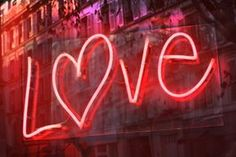 Red neon love
