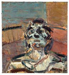 """Frank Auerbach - """"Head of JYM"""", 1982 - Oil on canvas - 64 X 60 cm. Frank Auerbach, Painting Process, Artist Painting, Painting & Drawing, Rembrandt Paintings, Oil Paintings, Pictures At An Exhibition, Academic Art, Sad Art"""