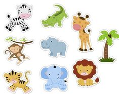 Aplique Animais Safari Mod 018