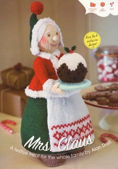 Mrs Christmas (Mrs Claus) Toy by Alan Dart Knitting Pattern: Measurement 32cm tall (Simply Knitting Magazine Pull Out Pattern) , http://www.amazon.co.uk/dp/B007J4Q18A/ref=cm_sw_r_pi_dp_dZMitb0X9D8TX