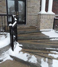 Saw Cut For Retrofit Snow Melting System Heated