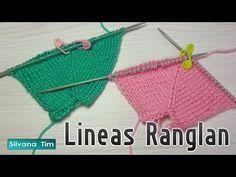 2 técnicas de tricô linea ranglán com duas agulhas # 8 . Baby Knitting Patterns, Diy Crafts Knitting, Crochet Projects, Diy Crafts Images, Knitting Increase, Crochet Bikini, Knit Crochet, Crochet Doll Dress, Knitting Videos