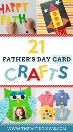 A HUGE list of Father's Day Craft Ideas and Cards