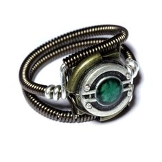 WANT Steampunk Jewelry - RING - Green by *CatherinetteRings on deviantART