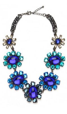 Something blue... #Wedding Necklace. I'm totally wanna do a statement necklace when I et married.