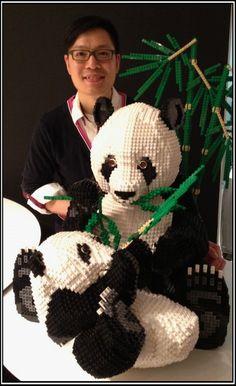 Lego Pandas : a LEGO® creation by Schfio Factory : MOCpages.com