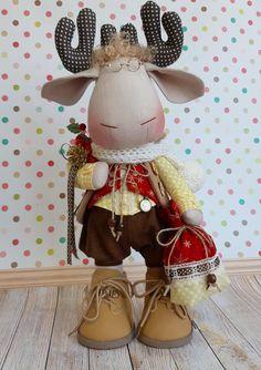 Reno, Fabric Dolls, Xmas, Christmas, Textiles, Fairies, Moose, Handmade, Crafts