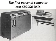 Wow! The first computer costs more than car (and house if you account for inflation).  Learn MORE: http://inflation-calculator.com/inflation-facts/the-cost-of-the-first-personal-computer