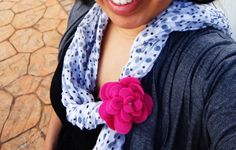 Scarf and flower
