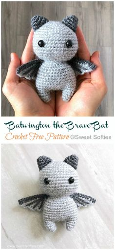 cute Crochet 730568370786507672 - Amigurumi Little Bat Crochet Free Pattern – Crochet & Knitting Source by brietanglique Dragon En Crochet, Crochet Bat, Crochet Mignon, Crochet Elephant, Crochet Gratis, Cute Crochet, Crotchet, Crochet Pour Halloween, Halloween Crochet Patterns