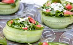 Very cool salad presentation!