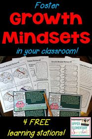 Growth Mindsets with Free Learning Centers! Foster growth mindsets within your students this year with these four FREE learning centers!Foster growth mindsets within your students this year with these four FREE learning centers! Growth Mindset Classroom, Growth Mindset Activities, Learning Stations, Learning Centers, Learning Activities, Literacy Centers, Classroom Activities, Classroom Ideas, Social Emotional Learning