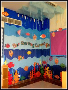 Under the Sea Reading Corner classroom display photo - Photo gallery - SparkleBox www.countrymp3download.com