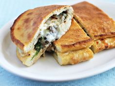Gojee - Mushroom and Spinach Calzone by Ezra Pound Cake