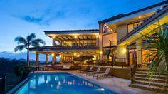 Cacique Peninsula Luxury Vacation Villa Outdoor Living Area Sunset
