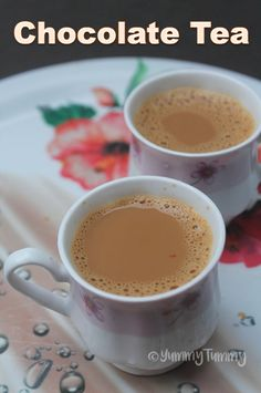 Chocolate Tea Recipe - Instant Cocoa Tea Recipe - Yummy Tummy<br> Delicious tea with a hint of chocolate flavour. A different type of tea from your regular tea or chai. Perfect with my tea cake. Hot Tea Recipes, Coffee Recipes, Snack Recipes, Drink Recipes, Detox Recipes, Delicious Recipes, Chocolate Tea Recipe, Hot Chocolate, Yummy Drinks