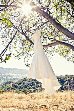 Wedding dress outside.  wedding-engagement-photography