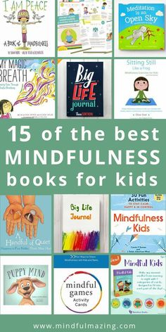 Wondering how to teach your kids about Mindfulness? You'll love these mindfulness books for kids to teach them strategies and skills for calming down, regulating their emotions, focusing, sleeping better, and developing kindness and compassion. Happy (and Teaching Mindfulness, Mindfulness Books, Mindfulness For Kids, Mindfulness Activities, Mindfulness Practice, Mindfulness Benefits, Mindful Activities For Kids, Mindfulness Therapy, Baby Activities