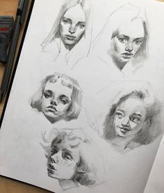 Fantasting Drawing Hairstyles For Characters Ideas. Amazing Drawing Hairstyles For Characters Ideas. Portrait Sketches, Art Sketches, Art Drawings, Sketchbook Inspiration, Art Sketchbook, Art And Illustration, Comic Style, Animation Sketches, Pretty Art
