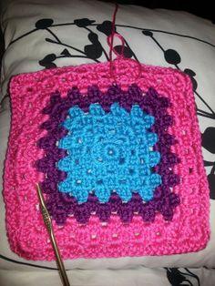 Pink purple n blue square