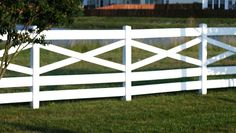 5 board crossbuck fence... this is our backyard project (along with lots of other things I'm sure!) this summer - love it!