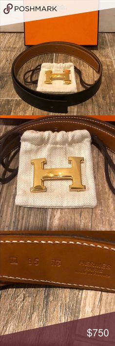 Hermès Constance Reversible Belt Amazing condition other than one scratch on brown side where H buckle attaches.  Authentic, bought from Hermès store.  100% Box calf leather on both sides. Hermes Accessories Belts