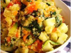 Quinoa saltata con verdure e patata dolce - Preparazione tappa 1