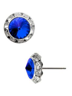 """Crystal Blue Fashion Earrings Made With Crystal Swarovski Elements 12mm 1/2"""" #DazzledByJewels #Stud #DazzledByJewels #fashion #fashionista #fashionstyle #style #styleinspiration #trend #trendy#trending #trends #jewelry #jewelryaddict #shopping #jewelryforsale #jewelryoftheday #jewelrybox #jewelrylovers #instyle #trendsetter #glam #gift #giftsforher #women #teen #earrings #blue #sapphire"""