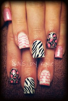 ♡ Animal Print - Nail Art Gallery