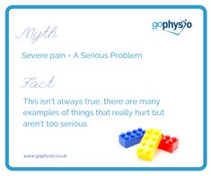 There's no denying it, pain can be scary, and for good reason - it protects us. However, severe pain doesn't always mean a serious problem. There are many examples of things that really hurt, but don't mean serious damage....stepping on Lego for one! How about a paper cut, stubbing your toe, getting your legs waxed, having a tooth pulled out or burning your finger on a pan! The same is true for musculoskeletal pain like back pain. Tooth Pulled, Back Pain, Paper Cutting, Scary, It Hurts, Finger, Lego, Toe, Legos