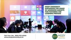 Mody University emphasizes the usage of advanced gadgets for fostering the learning process.